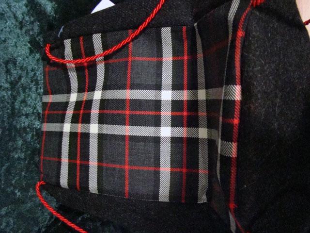 Black tartan bag