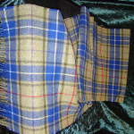 Heavy-weight and light-weight tartan scarves